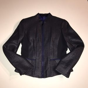 Elie Tahari Wool Cotton Blend Blazer Jacket Coat